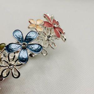 NEW Enamel  Bracelet Bangle,adjustable w gift bag